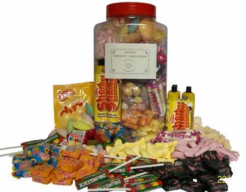 Large Jar of Retro Sweets