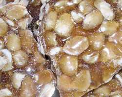 Nutty Brittle, made by traditional methods
